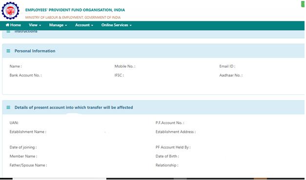 EPF Account Details