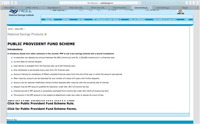 Public Provident Fund Scheme