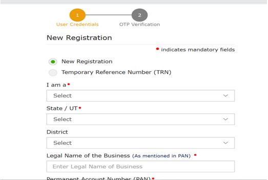 New Registration