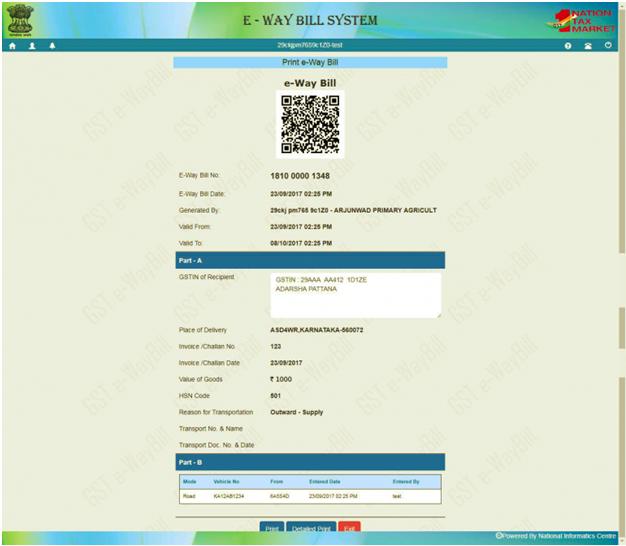 E-WayBill Print Copy