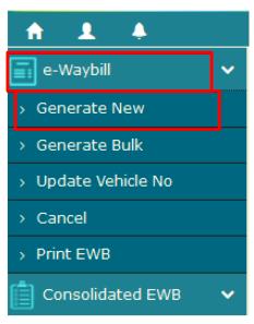 Generate New E-WayBill